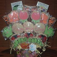 Spring Cookies Spring sugar cookie bouquet;-)