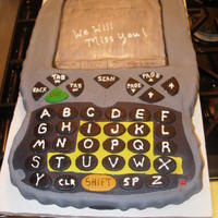 Fedex Powerpad Going away cake for work. Cake is a Fedex Powerpad that we use for customers to sign for packages. all mmf