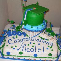 Star Graduation Cap graduation cake with fondant tassel and stars