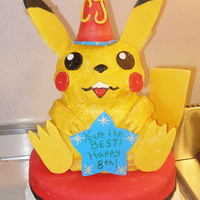Pika Birthday Pokemon Birthday cake featuring Pikachu. Finally had another use for the stand up bear pan!