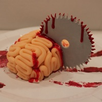 Brain & Saw Blade Cupcake Bloody Brain & Saw Blade Cupcake I made for Cupcake Camp London - My blog Made With Pink.com helped sponsor the event and I baked and...