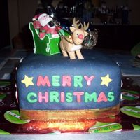 Christmas Cake I made this cake for a family Christmas Party. All the decorations are made out of gumpaste.