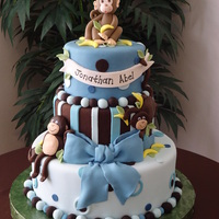 Monkey Boy Baby Shower Cake I made this cake for my baby shower. Inspired by a cake I saw here in cake central but it was the monkey girl theme. I made the same cake...