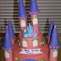 Princess Castle A Princess castle for my daughter's birthday. That is a Christmas ornament with the princesses in a tower. Ice cream cones and paper...
