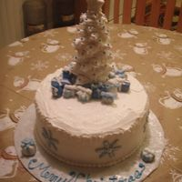 Christmas Tree & Presents This cake was made for our family christmas party. I made all the presents out of fondant and the tree is cookies and icing. It was a...