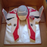 Star Fighter  A friend called me on very short notice to help with her Grandson's birthday cake, she made the cake but was struggling with the...