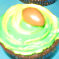 Football Cupcakes Packers colors, Footballs made from tootsie rolls.