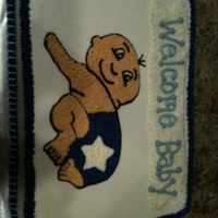Cowboy's Baby Shower   Cowboy's Baby Shower cake. All BC on white cake.