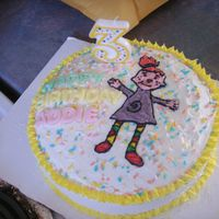 Pict1567.jpg  Made for my niece. She loves Pinky Dinky Doo so I HAD to make her a Pinky cake. I free handed pinky so she isn't perfect. It's a...