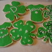 "St Patrick's Day Cookies My brother's Birthday is on St. Patrick's Day and I mailed these out to him in San Diego. He loved them, especially ""Kiss Me..."