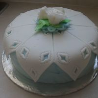 Summer_2009_052.jpg This cake made at home while on course for fondant and gumpaste.
