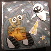 Wall E A cake for Lars, I had no idea what Wall E was!Thank god for google!