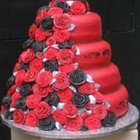 Wedding Cake With Roses I made this cake together with Yvonne (******) for a very special wedding The cake is coverd with 64 handmade roses (25 rosesleaves on each...