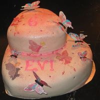 Pink Glitter Butterflys And Elfs Evi turned 6 years last Friday and her mother askes me for a pink birthday cake with a lot of sparkle en glitter!