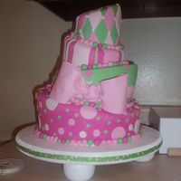 The Baby Shower Cake-Pre-Death If you want to know what I'm referring to, check out my cake disaster post.