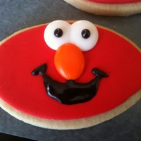 Elmo Cookies Elmo cookies for child's birthday party