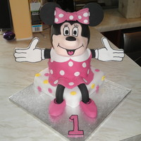 3D Minnie Mouse This was for a first birthday