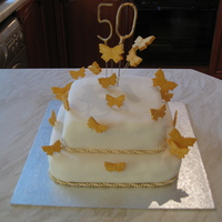 Butterfly Birthday Cake   this cake i was asked to make for a friends 50th