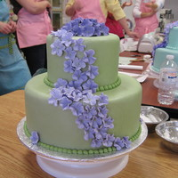 Fondant Hydrangea Cake This is the first homemade fondant I have ever made. I was thrilled with the results of the smoothness of the fondant and the outcome of...