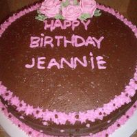 Pink And Brown B-Day Cake a cake for a friend of my dads