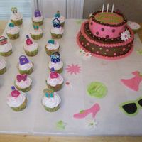 B-Day Cake cake for my step daughter. i was up till 3am doing this cake. but she loved it