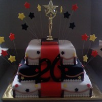 Red Carpet Cake This is a red carpet cake for a hollywood themed birthday party.