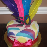 50Th Birthday Cake I made this cake for a family friend. She asked for funky and colorful. I used a pucci print as the inspiration.