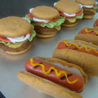 Hot Dog And Hamburger Cookies
