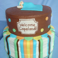 Copeland's Cake I made this out of butter cake with lemon curd filling and vanilla buttercream icing on the bottom layer and chocolate cake with raspberry...