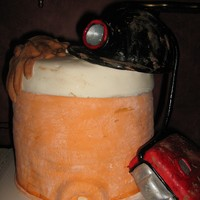 Coal Miner Cake I MADE THIS FOR MY DAD FOR FATHER'S DAY AS YOU CAN TELL HE IS A COAL MINER AND I MADE THE CAKE TO LOOK LIKE HIS LUNCH BUCKET HE PACKS...