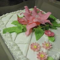 Fondant Flower this was a cake a donated for a senior project.. fondant flower and buttercream.