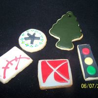 All Things Cars ... Except Cars =} Sugar Cookies w/Toba's Glace and Antonia's RII did these for a Saturn dealership - hence the Saturn Logo ~ Traffic Light,...