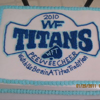 Wake Forest Titans This cake was made for my daughters end of the season cheer party. This was the logo that was on their sponsorship t-shirt, i just turned...