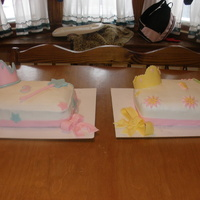 Princess Cakes I did these to match a Belle and Cinderella barbie cake.