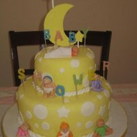 Baby Shower Cake   design inspired by wilton's celebrate with fondant book