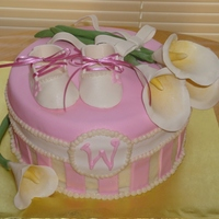 Wynn For a baby shower for a little girl to be named Wynn (love it!), it was a vanilla cake with raspberry filling and almond BC. The pink and...