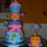 Candy Land Theme Cake Always love working with color! loved the colors in this cake!