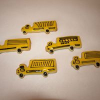 Truck - Bus Cookies When I cut these out, I was thinking I had a school but cutter. After decorating 3 or 4 I realized it wasn't a bus, but a truck. LOL...