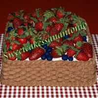 Berries In A Basket I made this for the Poteet Strawberry Festival in Texas last weekend. The cake is strawberry with strawberry buttercream filling. The...