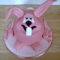 Pink Rabbit a customer drew a picture of exactly how this cake should be, I did my best to follow the instructions!