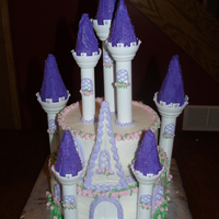 Princess Castle Cake Princess Castle Cake using Wilton castle kit tiers