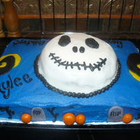 Nightmare Before Christmas Bday Cake