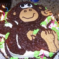 Monkey This is the monkey character pan from Wilton. We were having the party at the zoo, so this was perfect, even though the birthday girl was...