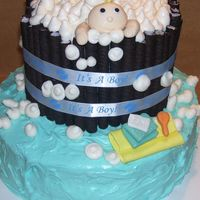Bathtub Baby I got the inspiration from contributors to this site...thank you so much! Strawberry cake with cream cheese frosting and buttercream...