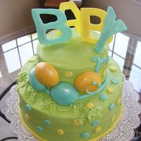 Caterpillar Baby Shower Got this cake idea from a contributor from this site...thank you so much! Chocolate cake, fondant decorations.