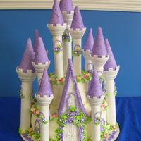 "Princess Castle  This is a chocolate 10"" & 6"" double layer cake for a sweet little princess! She fell in love with the kit from Wilton...it..."