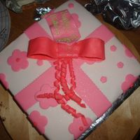 Present Cake A white cake with vanilla filling, BC icing, covered in Fondant. My friend loved the one I made in class, so wanted this one for a birthdya...