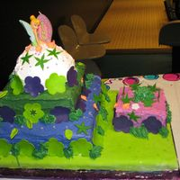 Daughter's Birthday Tinkerbell I made this cake for my daughter's 6th birthday party. It was her first part, so I wanted to make a big cake since she had 50 guests!...
