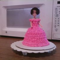 Barbie Cupcake Need work, but this my first time trying the barbie doll cupcake