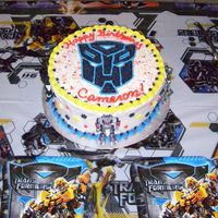 Transformers Cake This was a big hit with my 5 year old nephew!